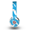 The White Mustaches with blue background Skin for the Original Beats by Dre Wireless Headphones