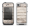 The White Painted Aged Wood Planks Apple iPhone 4-4s LifeProof Fre Case Skin Set