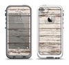 The White Painted Aged Wood Planks Apple iPhone 5-5s LifeProof Fre Case Skin Set