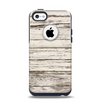 The White Painted Aged Wood Planks Apple iPhone 5c Otterbox Commuter Case Skin Set