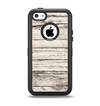 The White Painted Aged Wood Planks Apple iPhone 5c Otterbox Defender Case Skin Set