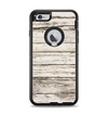 The White Painted Aged Wood Planks Apple iPhone 6 Plus Otterbox Defender Case Skin Set