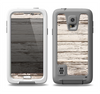 The White Painted Aged Wood Planks Samsung Galaxy S5 LifeProof Fre Case Skin Set