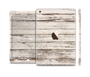 The White Painted Aged Wood Planks Full Body Skin Set for the Apple iPad Mini 3