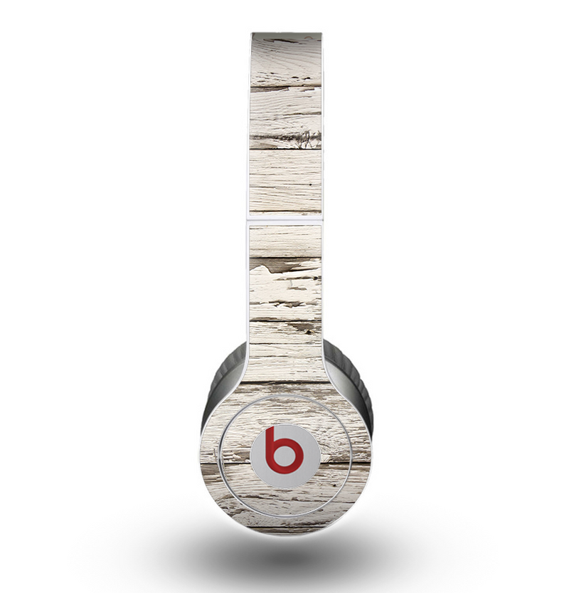 The White Painted Aged Wood Planks Skin for the Beats by Dre Original Solo-Solo HD Headphones