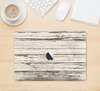 "The White Painted Aged Wood Planks Skin Kit for the 12"" Apple MacBook"