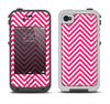 The White & Pink Sharp Chevron Pattern Apple iPhone 4-4s LifeProof Fre Case Skin Set