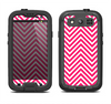 The White & Pink Sharp Chevron Pattern Samsung Galaxy S3 LifeProof Fre Case Skin Set
