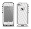The White Studded Seamless Pattern Apple iPhone 5-5s LifeProof Fre Case Skin Set