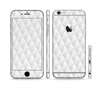 The White Studded Seamless Pattern Sectioned Skin Series for the Apple iPhone 6 Plus