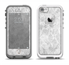 The White Textured Lace Apple iPhone 5-5s LifeProof Fre Case Skin Set