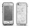 The White Textured Lace Apple iPhone 5-5s LifeProof Nuud Case Skin Set