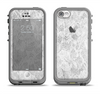 The White Textured Lace Apple iPhone 5c LifeProof Fre Case Skin Set
