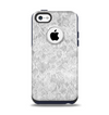 The White Textured Lace Apple iPhone 5c Otterbox Commuter Case Skin Set