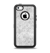 The White Textured Lace Apple iPhone 5c Otterbox Defender Case Skin Set