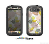 The White & Vintage Tan & Gold Vector Birds with Flowers Skin For The Samsung Galaxy S3 LifeProof Case