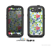The White Vintage Vector Heart Buttons Skin For The Samsung Galaxy S3 LifeProof Case