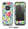 The Pink Vintage Vector Heart Buttons Skin for the iPhone 4 or 5 LifeProof Case