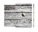 The White Wide Aged Wood Planks Full Body Skin Set for the Apple iPad Mini 3