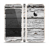 The White Wide Aged Wood Planks Skin Set for the Apple iPhone 5s