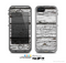 The White Wide Aged Wood Planks Skin for the Apple iPhone 5c LifeProof Case