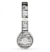 The White Wide Aged Wood Planks Skin for the Beats by Dre Solo 2 Headphones