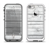 The White Wood Planks Apple iPhone 5-5s LifeProof Fre Case Skin Set