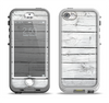 The White Wood Planks Apple iPhone 5-5s LifeProof Nuud Case Skin Set