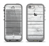 The White Wood Planks Apple iPhone 5c LifeProof Fre Case Skin Set