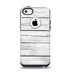 The White Wood Planks Apple iPhone 5c Otterbox Commuter Case Skin Set
