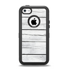 The White Wood Planks Apple iPhone 5c Otterbox Defender Case Skin Set