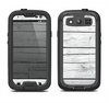 The White Wood Planks Samsung Galaxy S3 LifeProof Fre Case Skin Set