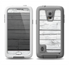 The White Wood Planks Samsung Galaxy S5 LifeProof Fre Case Skin Set