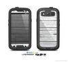 The White Wood Planks Skin For The Samsung Galaxy S3 LifeProof Case