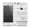 The White Wood Planks Skin Set for the Apple iPhone 5