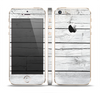 The White Wood Planks Skin Set for the Apple iPhone 5s