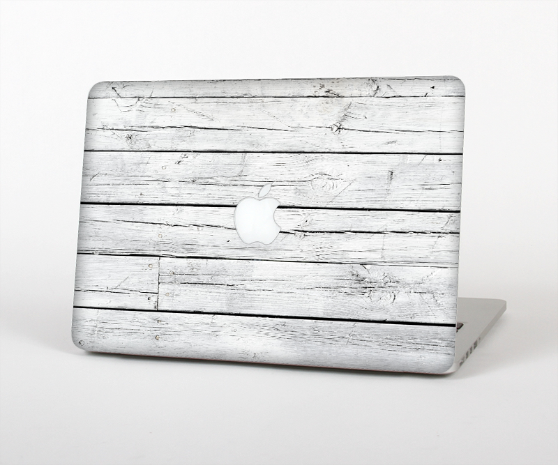 "The White Wood Planks Skin Set for the Apple MacBook Pro 15"" with Retina Display"