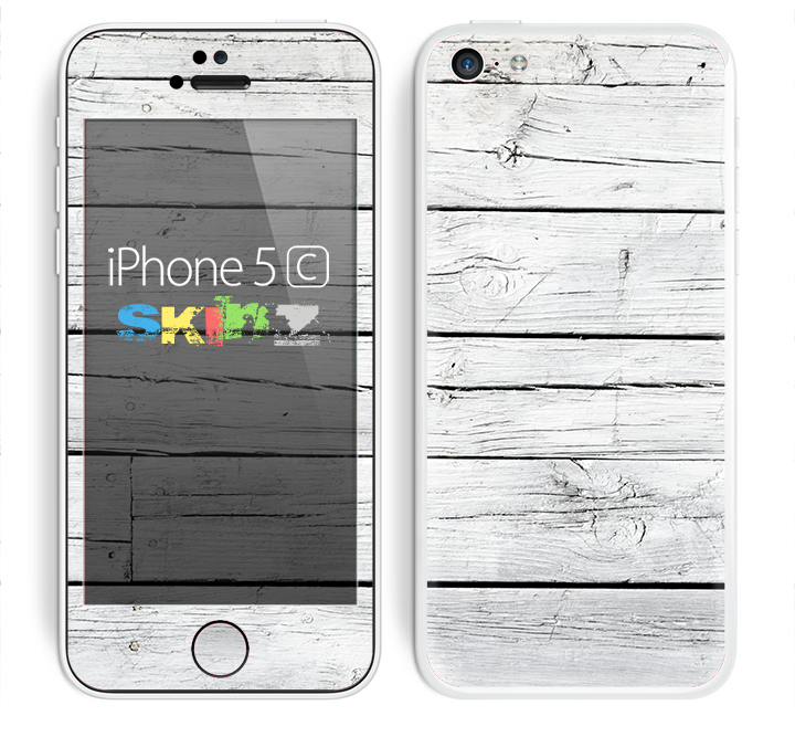 The White Wood Planks Skin for the Apple iPhone 5c