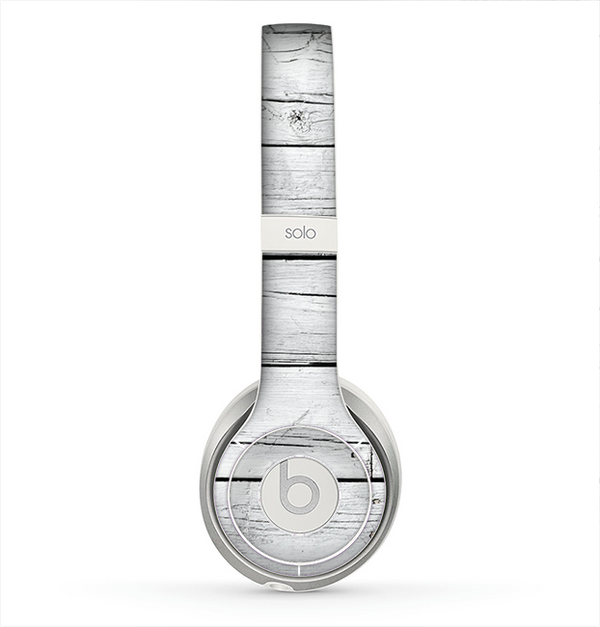 The White Wood Planks Skin for the Beats by Dre Solo 2 Headphones