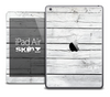 The White Wood Planks Skin for the iPad Air