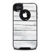 The White Wood Planks Skin for the iPhone 4-4s OtterBox Commuter Case