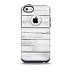 The White Wood Planks Skin for the iPhone 5c OtterBox Commuter Case