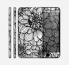 The White and Black Flower Illustration Skin for the Apple iPhone 6 Plus