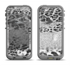 The White and Black Real Leopard Print Apple iPhone 5c LifeProof Fre Case Skin Set