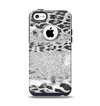 The White and Black Real Leopard Print Apple iPhone 5c Otterbox Commuter Case Skin Set