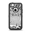 The White and Black Real Leopard Print Apple iPhone 5c Otterbox Defender Case Skin Set