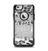 The White and Black Real Leopard Print Apple iPhone 6 Otterbox Commuter Case Skin Set