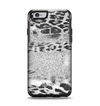 The White and Black Real Leopard Print Apple iPhone 6 Otterbox Symmetry Case Skin Set