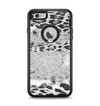 The White and Black Real Leopard Print Apple iPhone 6 Plus Otterbox Defender Case Skin Set