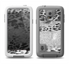 The White and Black Real Leopard Print Samsung Galaxy S5 LifeProof Fre Case Skin Set